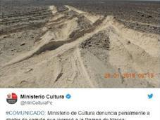 Perù: esce strada rovina Linee Nazca. Video
