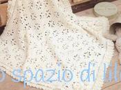 Copertina neonato crochet QUADRIFOGLI, schemi