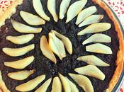 Ginger, chocolate pear tart