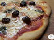 Pizza semola grano duro rimacinata, mozzarella bufala, olive taggiasche basilico