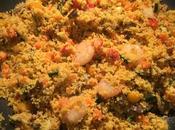 Cous cous speziato verdure gamberi