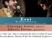"""Domenica aprile 2018 Bergamo """"Eroi"""" Giuseppe Goisis Alberto Forino, ospiti della 59sima """"Fiera librai"""""""