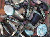sposa vetro Collana orecchini perle carta pietre dure