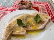 trancio pesce spada alla piastra, scottato troppo accompagnato maniera siciliana...