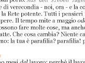 Tutti pensieri meno uno.▬ Diario Massimo Sannelli