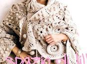 Motivi rotondi stola crochet, schemi Round motifs crochet stole, free pattern