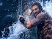 Aquaman: prime foto scena Jason Momoa squame tatuate
