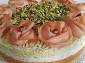 Cheesecake salato pistacchio mortadella