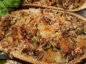 Melanzane ripiene riso basmati, tonno zucchine