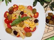 Pasta fredda pomodorini, mais olive