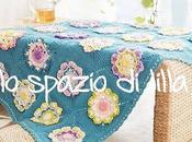 Copertina crochet neonato piastrelle floreali Floral squares baby blanket, free pattern
