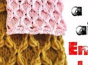 Punto rilievo ferri copertine scaldacolli, spiegazione scritta Embossed knitting stitch make baby blankets cowls, written pattern
