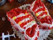 Torta farfalla panna crema fragole