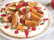 Torta fredda fichi salsa lamponi