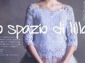 Moda donna all'uncinetto: blusa bianca motivi rotondi, schemi Crochet blouse, free pattern
