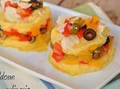 Sformatini polenta peperoni olive