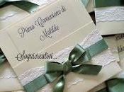 Partecipazioni matrimonio comunione pizzo verde malva