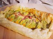 Torta salata fiori zucchine