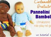 Pannolini bambole cartamodello tutorial