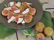 Carpaccio fichi parmigiano letto mozzarella