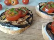 Bruschetta stracchino melanzane