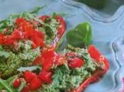 Peperoni ripieni basilico pomodorini marinati