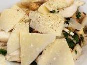 Insalata funghi porcini, castagne nocciole scaglie parmigiano