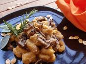 Gnocchi zucca funghi porcino radicchio trevigiano
