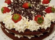 Torta cioccolato crema mascarpone fragole