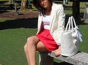 Orange skirt...
