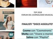 """Cosmo, Motta, Salmo, Sinigallia, Circus finale nella """"TOP 2018"""" 'Forum giornalismo musicale'"""