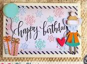 [Cardmaking] Card Compleanno invernale femminile