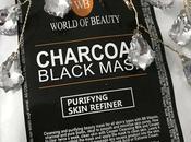 World Beauty: maschera tessuto Charcoal Black Mask