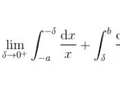 valore principale cauchy