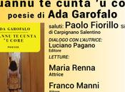 """Giovedì marzo 2019 Carpignano Salentino (LE) """"Quannu cunta core"""" Garofalo, Poesia Jazz Maria Renna, Franco Manni, Marco Antonrio Romano Fulvio Palese"""