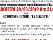 Proseguono assemblee pubbliche della lista Chiesina Uzzanese frazioni. Mercoledì marzo appuntamento Chiesanuova.