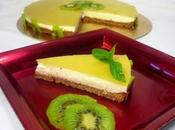 Annuncio ricetta torta fredda allo yogurt gusto kiwi