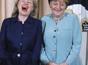 Angela Merkel sedere Hillary Clinton prende