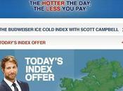 caldo, birra gratis l'app Budweiser