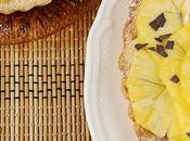 crostata estiva alla crema latte cacao carpaccio d'ananas