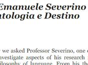 cosa segno. Intervista Emanuele Severino linguaggio, ontologia Destino, Davide Grossi, link file formato www.academia.edu