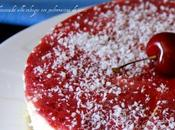 Cheesecake alle ciliegie spolveratina cocco