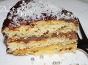 Torta crema cioccolato spolveratina cocco...per compleanno
