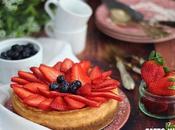 Cheesecake Cotta Crema Mascarpone Fragole
