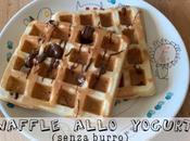 Waffle allo yogurt senza burro