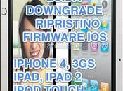 Guida downgrade firmware 4.3.4 4.3.3 iPhone 3GS, iPad, iPad iPod Touch