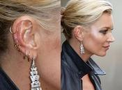 Kate Moss sporting multiple earrings!