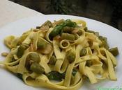 Fettuccine Asparagi Mandorle Pinoli Tostati