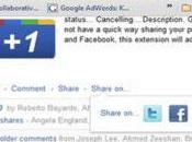 Extended Share Google Plus condividere post Facebook Twitter