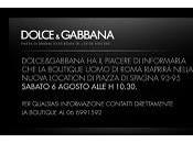 Third Countdown: Re-Opening Dolce Gabbana Boutiques Roma